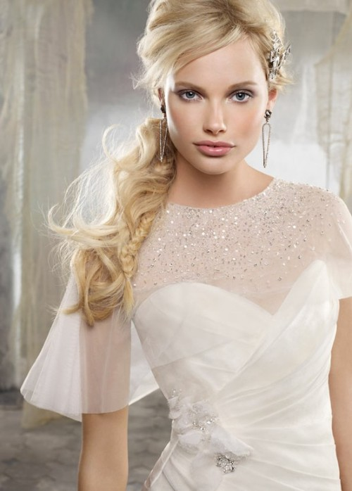 Sparkly and sheer capelet cover-up. Alvina Valenta spring 2012 style no. AV9208. Read full post here.