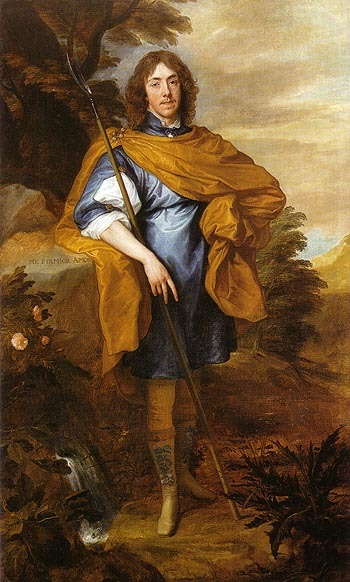 "thestuartkings:  George Stuart (or Stewart), 9th Seigneur d'Aubigny Scottish nobleman and Royalist commander in the English Civil War. George Stuarts father, the Duke of Lennox, died in 1624 when George was just six, and he became a ward of his cousin, King Charles I of England.   In 1638 he secretly married Katherine Howard, the daughter of Theophilus Howard, 2nd Earl of Suffolk, and Elizabeth Home, without her father's consent, offending his guardian the king. The portrait of Stewart by Anthony van Dyck, now in the National Portrait Gallery, London, may have been painted to mark his marriage; the Latin inscription can be translated ""Love is stronger than I am"" which may allude to his conflicting loyalties."