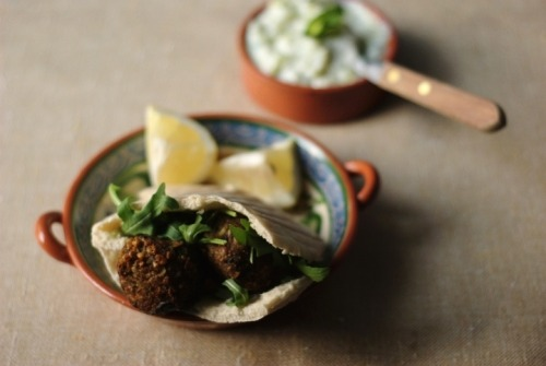 Chickpea and Aubergine Falafel