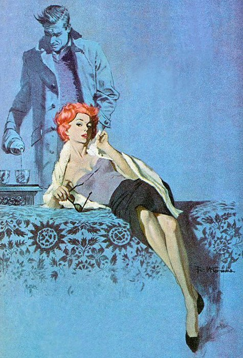 Pouring The Drinks, artwork by Robert McGinnis
