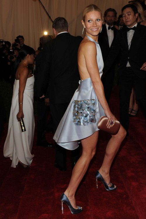 Gwyneth Paltrow in Prada at the Met Gala, May 2012