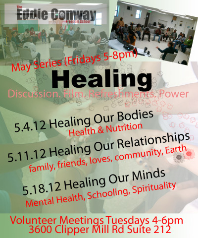 #EddieConwayFreedomSchool May Schedule #Healing