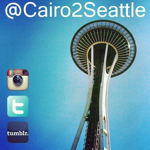 Follow me on Twitter , Instagram and #Tumblr @Cairo2Seattle (Taken with instagram)