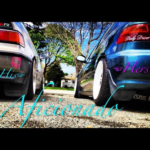 Mine and @mariuh101 whips #aficionado #hellafresh #simplyclean #eg6 #si #jdm  (Taken with instagram)