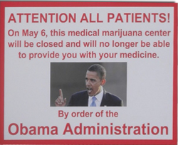 "socialuprooting:  Medical Marijuana: Obama's War On Pot Ramps Up In Colorado, Key Swing State In its official party platform, the Colorado Democratic Party endorses the legalization of marijuana. In March, 56 percent of the Denver County Republican Assembly voted to support legal and regulated pot, a question which will be on the November ballot. And the state's Department of Revenue has announced it is seeking reclassification of marijuana to allow doctors to prescribe it as medical treatment. The state has embarked on an ambitious effort to regulate its thriving medical marijuana industry. When it comes to marijuana policy, Colorado's voters, businesses, tax collectors, doctors and policy makers are moving forward. The lone holdout: President Barack Obama. On Sunday, 25 medical marijuana centers across Colorado closed their doors in response to a Department of Justice crackdown which did not appear rooted in state or local law, as the administration had previously promised it would be. The Obama administration, through U.S. Attorney John Walsh, ordered the centers in March to either move, shut their businesses down, or face criminal charges because, according to Walsh, they were within 1,000 feet of a school. Although nothing in Colorado's medical marijuana law specifies the distance between a shop and a school, the decision, like most such zoning matters, is left to local communities. ""I can see no legitimate basis in this judicial district to focus the resources of the United States government on the medical marijuana dispensaries that are otherwise compliant with Colorado law or local regulation,"" Boulder District Attorney Stan Garnett told Walsh in a recent letter. ""The people of Boulder County do not need Washington, D.C., or the federal government dictating how far dispensaries should be from schools, or other fine points of local land use law."""