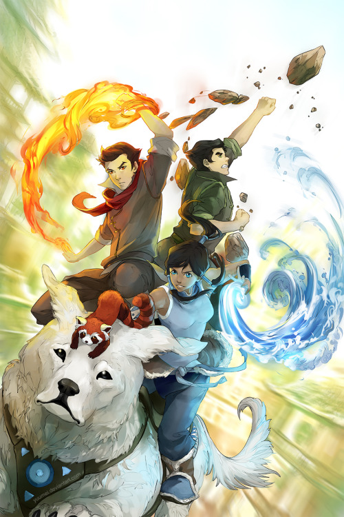 The legend of Korra  By Wenqing Yan