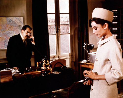 Audrey Hepburn in Charade, 1963.