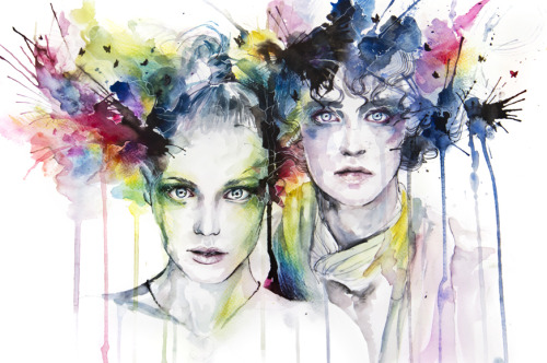 urhajos:  skies on fire by =agnes-cecile  Colours!