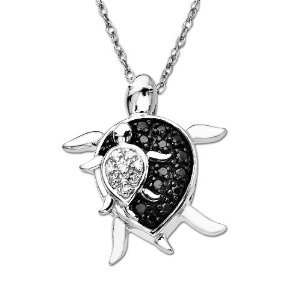 Baby Turtle Diamond Pendant (x)