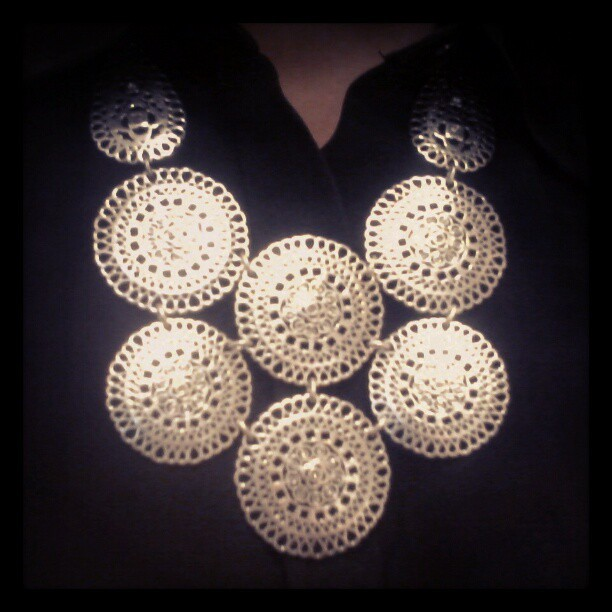 Medina Bib Necklace for an extra boost of confidence for this morning's interview #StellaDot (Taken with instagram)