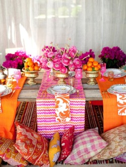 Lovely Etnic Chic Party setting