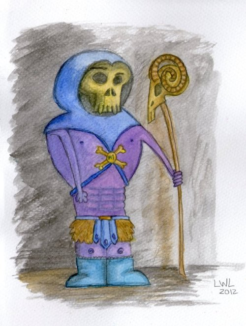 80scartoons:  Skeletor Plotting Some Evil by *LivianaMagnifica