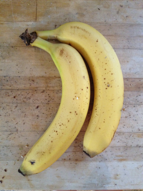 dilemma: freeze for future smoothies or let ripen for banana bread?