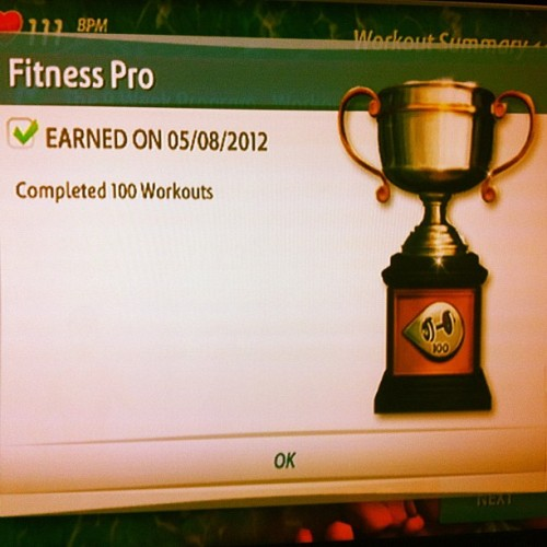New trophy, woo! #fit #workout #wii (Taken with instagram)