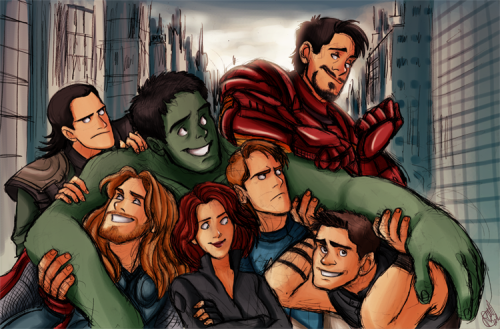 "rennyskywalker:  ""We have a Hulk!"" Had much fun drawing this!! :D DA link: http://renny08.deviantart.com/art/The-Avengers-We-Have-A-Hulk-300874162"