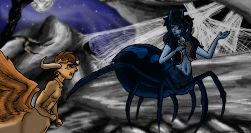 ((So somehow I ended up drawing a mythicalstuck picture. Dammit cause this awesome person just got me all inspired after seeing their pics… Sorry about that… ^^; anyway Ryu designed the mythical versions (had to guess colours for Vriska… once more sorry xD) ah well gotta do stuff for the hell of it because I seeeeeeeeriously couldn't resist))