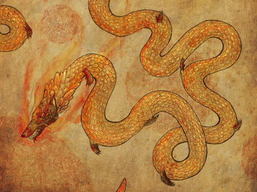 2headedsnake:  lefran.com Fran Court, 'Fire Dragon'