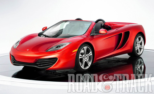 The 2014 McLaren MP4-12C Roadster will be one of the 4 hot new sports cars to shed their tops. (Source: Road & Track)
