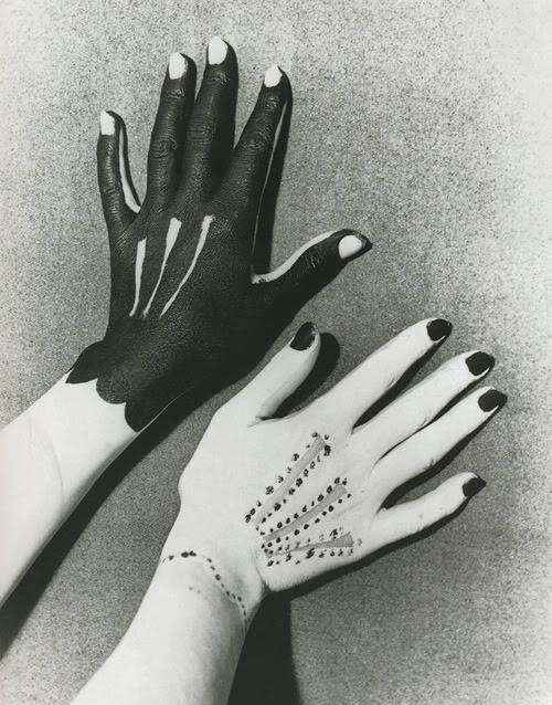 Hands painted by Picasso, photographed by Man Ray, 1935.