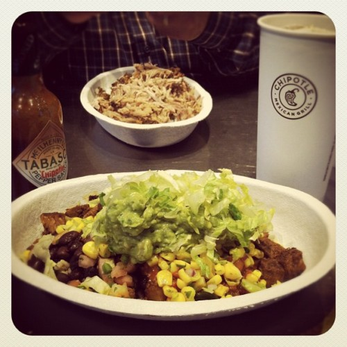 It's been so long—I've missed you bby. #chipotle #obsessed (Taken with Instagram at Chipotle Mexican Grill)
