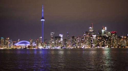 Toronto at night.