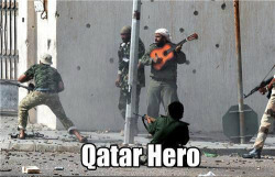 senjukannon:  muslimmafia:  lmao LMAAAAAO  Strumming away songs of valor, piety and encouragement as the bullets whiz past your ear. Winner.