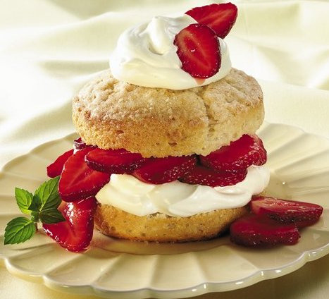 Grands Strawberry Shortcake Recipe by Pillsbury.com on Flickr.Via Flickr: INGREDIENTS Biscuits 1 can (10.2 oz) Pillsbury® Grands!® refrigerated buttermilk biscuits (5 biscuits) 2 tablespoons butter or margarine, melted 1/4 cup sugar Strawberry Mixture 1 1/2 pints (3 cups) fresh strawberries, sliced 1/3 cup sugar Whipped Cream 1/2 cup whipping cream 2 tablespoons sugar 1/4 teaspoon vanilla, if desired DIRECTIONS 1. Heat oven to 375°F. Separate dough into 5 biscuits. Dip tops and sides of each biscuit in butter; dip in 1/4 cup sugar. Place on ungreased cookie sheet. Bake 13 to 17 minutes or until golden brown. Cool 5 minutes. 2. Meanwhile, in medium bowl, mix strawberries and 1/3 cup sugar. Set aside. 3. In another small bowl, beat whipping cream and 2 tablespoons sugar with electric mixer on high speed until soft peaks form. Beat in vanilla. 4. To serve, split biscuits; place on individual dessert plates. Top with whipped cream and strawberry mixture. Find more recipes at www.pillsbury.com.