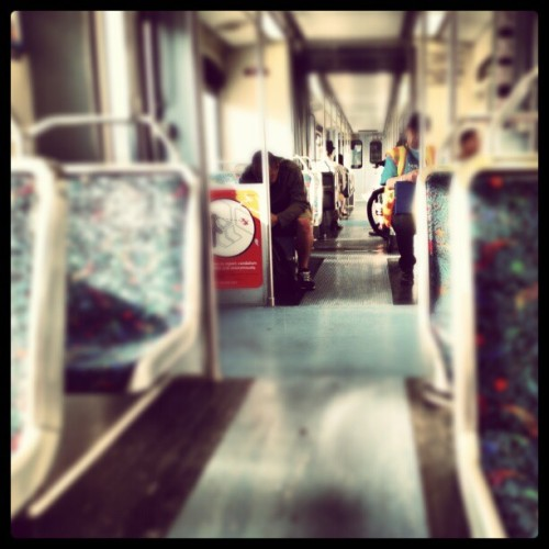 Riding the #LA #metro for shits and giggles (Taken with Instagram at Metro Expo Line 23rd St Station)