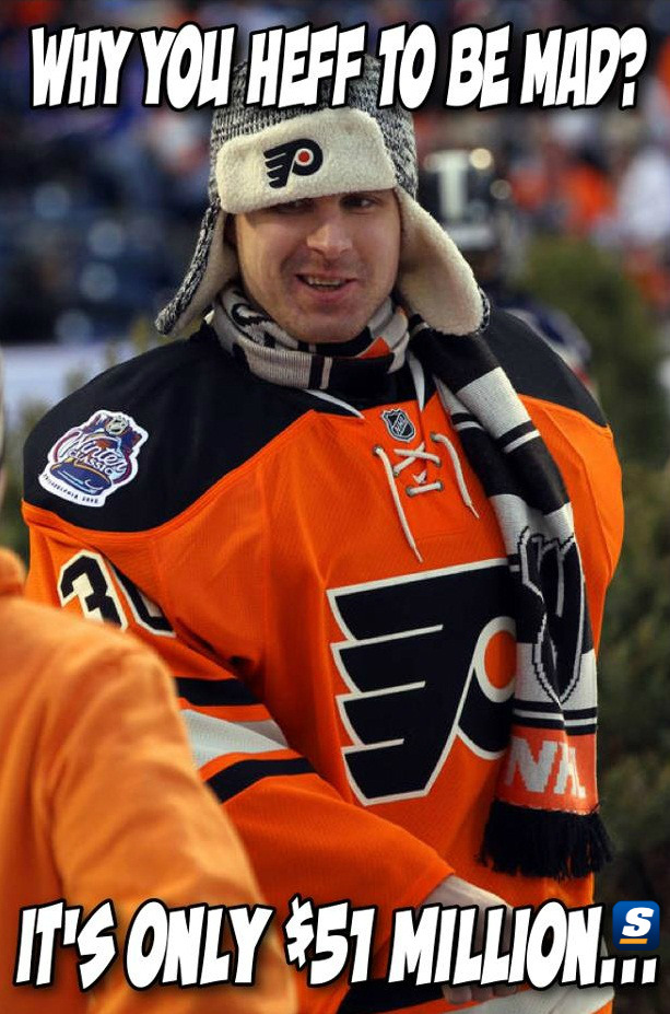 If the Flyers lose to the Devils, there's a good chance Ilya Bryzgalov will be the only guy still smiling.