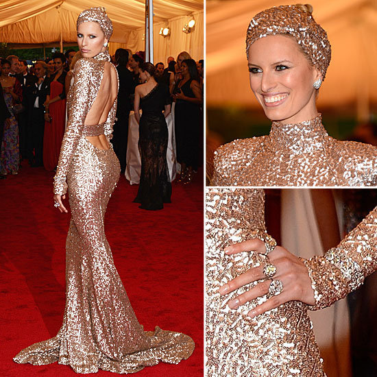 Karolina Kurkova rocking a Rachel Zoe design at this years Met Gala