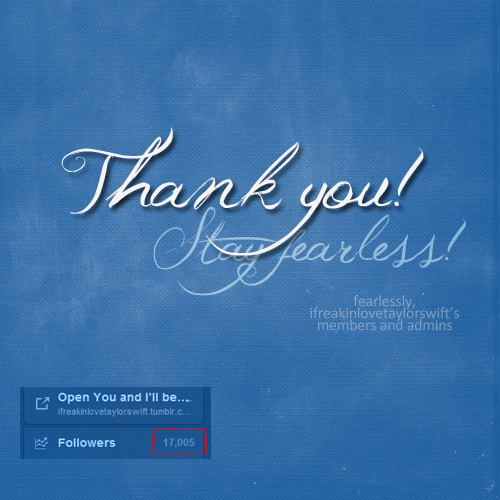 17,000+ followers! Thank you so much for the support! Thank you, thank you, THANK YOU!!! ♥