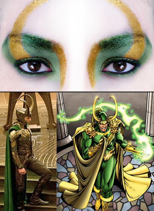makeupftw:  Loki: God of Mischief inspired make-up by http://nighth4wk.tumblr.com/