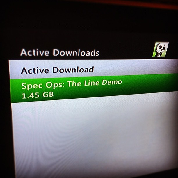 #gamers .. Get in on this. #specops #theline #specopstheline #demo #xbl #psn #2k #2kgames #specopsthelinedemo #xbox360 #ps3 #shhh #shooter #dubai #videogame #videogames (Taken with instagram)