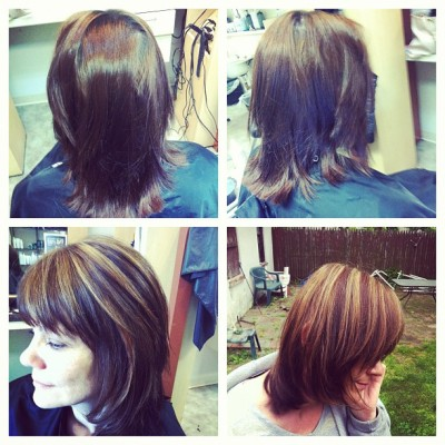 Keep rockin' the highlights this summer d0llbaby:  Mommas hair, before&after (Taken with instagram)