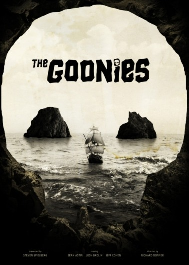 The Goonies… Just an Awesome movie! monstereatsdesign:  (via Designspiration — T H R T B R K R S)