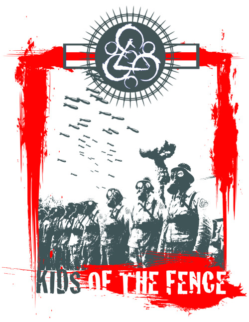 Kids Of The Fence Tee I Designed. Maybe someday it will get made into tshirts. Big thanks to Josh and Sarah Hudson and also Nydia and Monica who helped out with the idea!