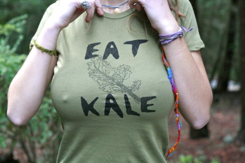 Eat Kale Tee Unisex Small by ElbowPatchez on Etsy