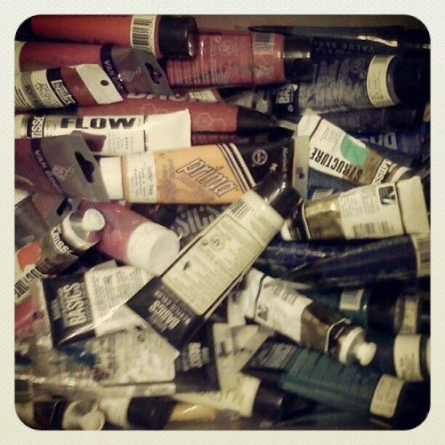 Most of these are empty.  #paint (Taken with instagram)