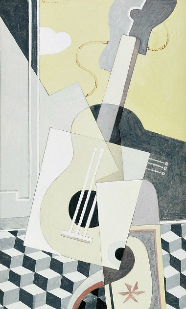 Axel Olson Still Life with Guitar 1930