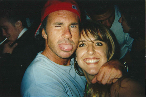 GPOYW: with Chad Smith of RHCP. This was at the 2001 VMA show after after party at American Trash.  That night I got home at 7am and was at work the next day at 10am.  This is because I was in my 20s.  These days one beer gives me a headache and I'm in bed by 10pm.