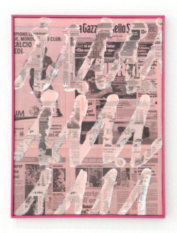 Nikolas Gambaroff Untitled, 2010 newspaper on canvas, framed 18 x 24 inches