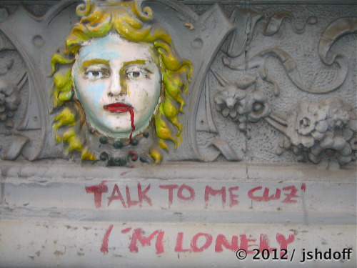 talk to me, cuz I'm lonely. (east village, nyc)