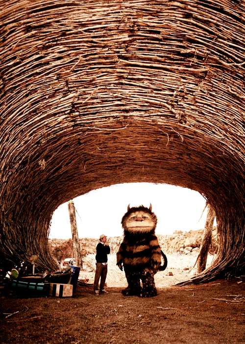 clintbarton:  Spike Jonze on the set of Where the Wild Things Are (2009)