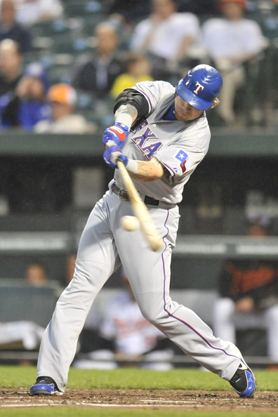 Josh Hamilton went 5-5 Tuesday. He drove in 8, and had 4 home runs. He is the 16th player to do so, and is the first to do it since Carlos Delgado with the Blue Jays in 2003. He also set an American League record for total bases, 18. Josh Hamilton is starting the season off right, and making a ton of fantasy owners happy in the process. - J.F