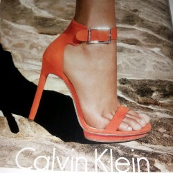 #lilxurious #fashion #calvinklein #orange #sandals #shoes #heels #style   (Taken with instagram)