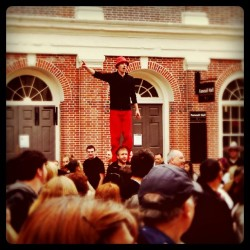 Street performers #quincymarket #faneuilhall #boston #iheartboston (Taken with Instagram at Boston, MA)
