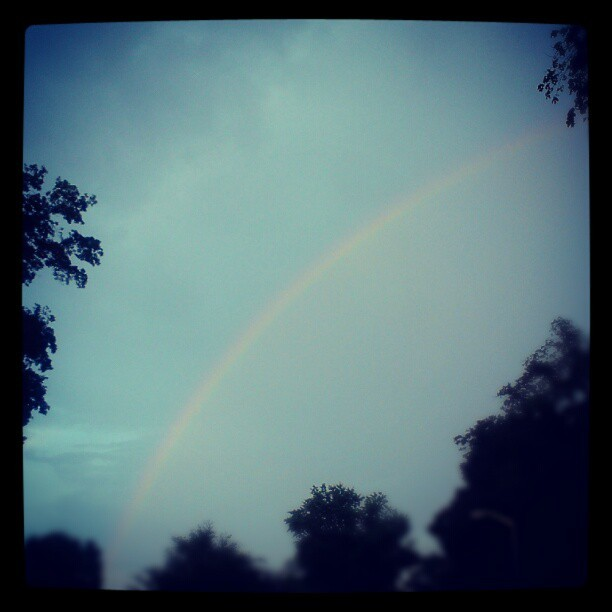Enjoy the simple things #rainbow #rain #nature  (Taken with instagram)