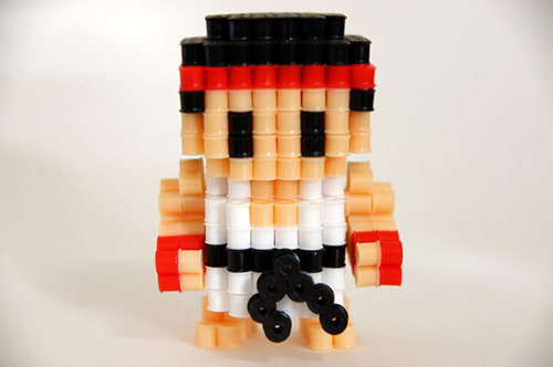 Street Fighter Ryu 3D Perler beads figure