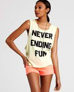 Spring tank tops by Wildfox Couture now sold at Bloomingdale's