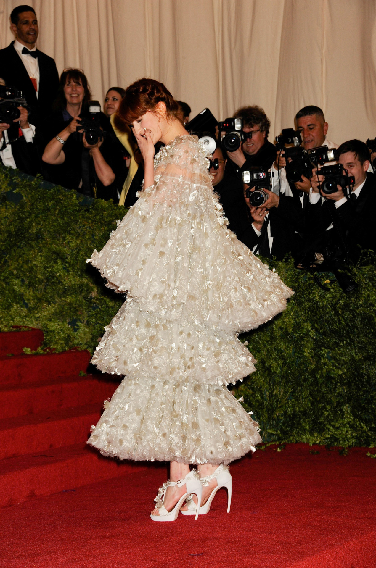 Florence Welch in Alexander McQueen at the 2012 Costume Gala, May 7th